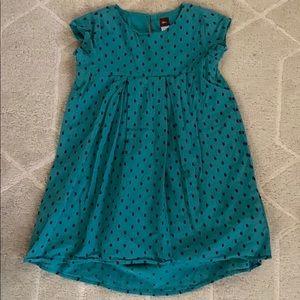 Tea Seto Swiss Dot High-Lo Dress
